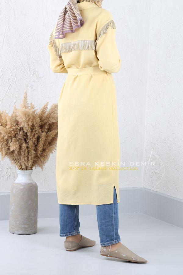 ESRA KESKİN DEMİR - Avşa Ceket Sarı