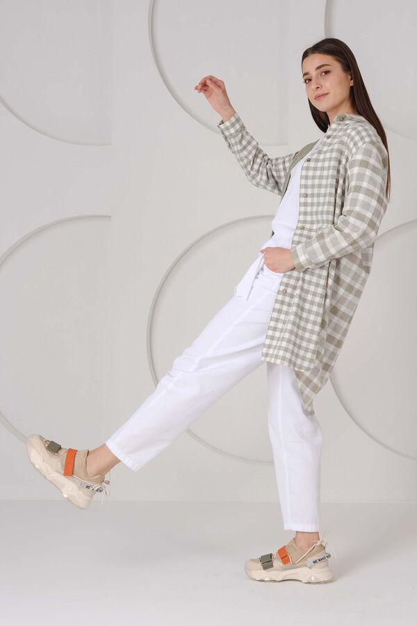 HE-QA - Baggy Jean Yazlık Beyaz (1)
