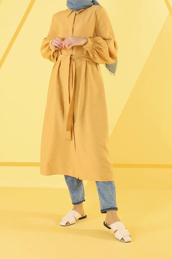HE-QA - Balon Kol Tunik Sarı