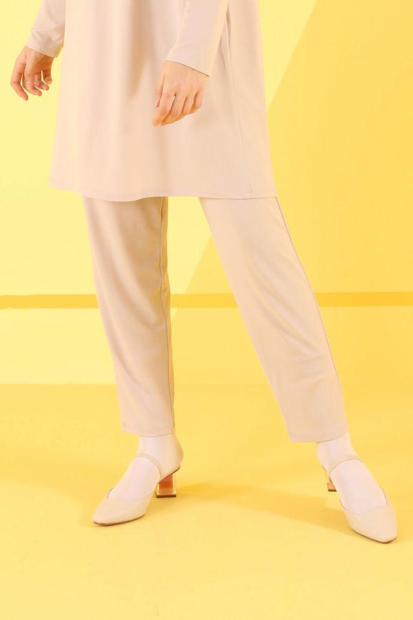 HE-QA - Basic Pantolon Bej