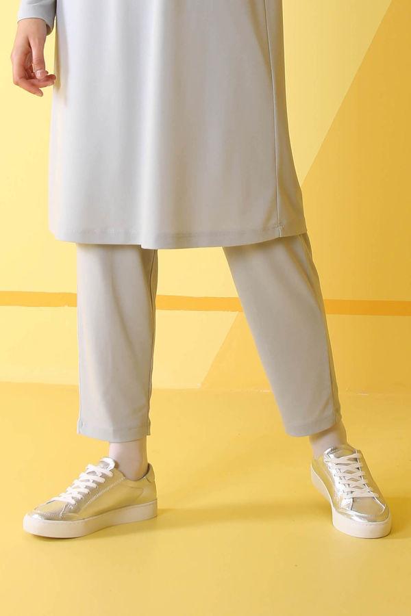 HE-QA - Basic Pantolon Gri
