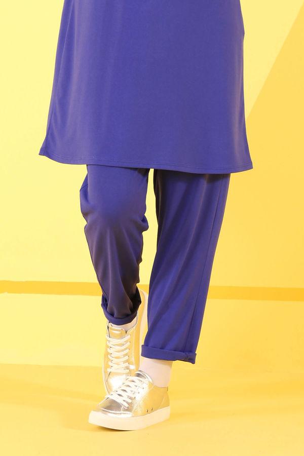 HE-QA - Basic Pantolon Saks