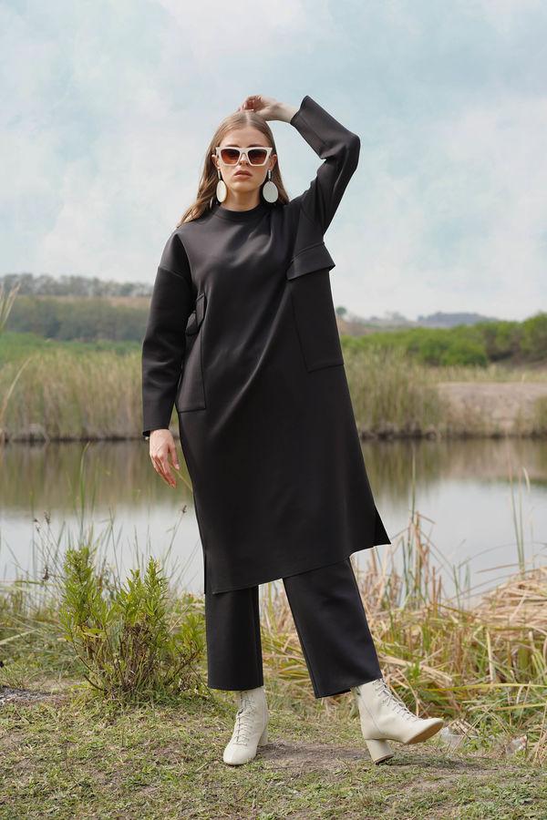 HE-QA - Dalgıç Tunik Siyah