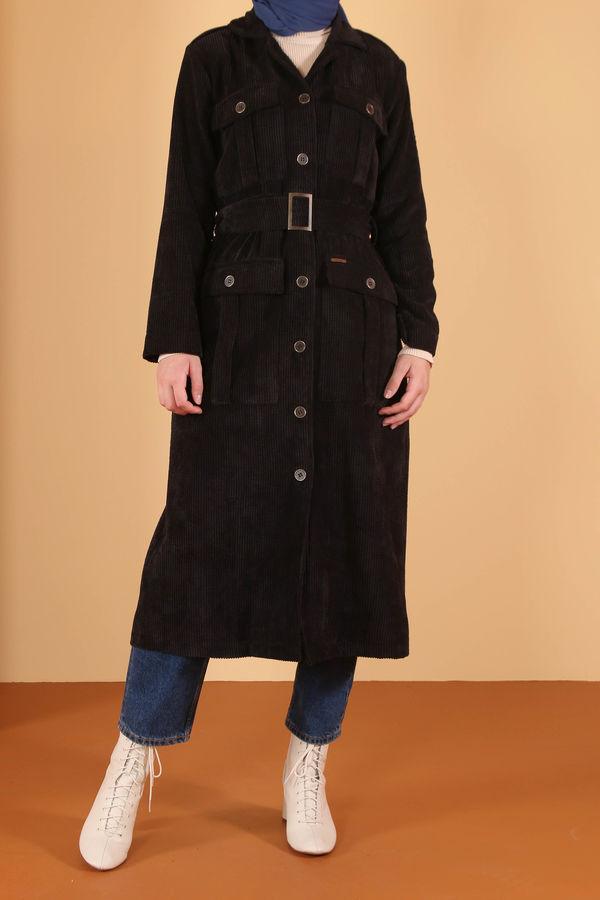 HE-QA - Kadife Ceket Siyah