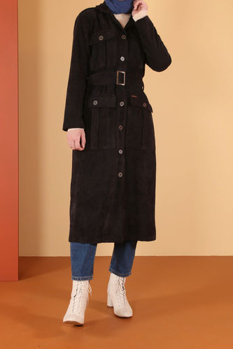 Kadife Ceket Siyah - Thumbnail