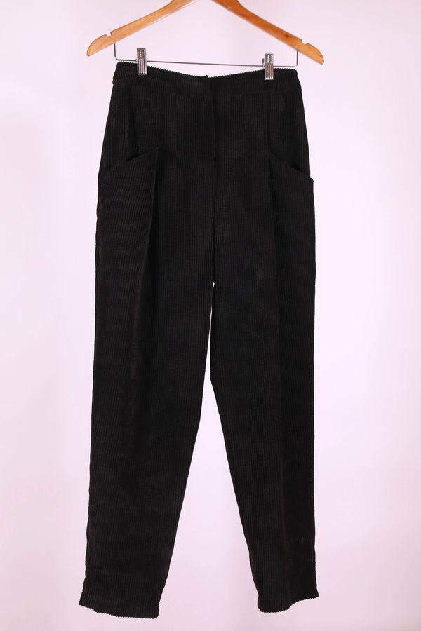 HE-QA - Kadife Pantolon Siyah