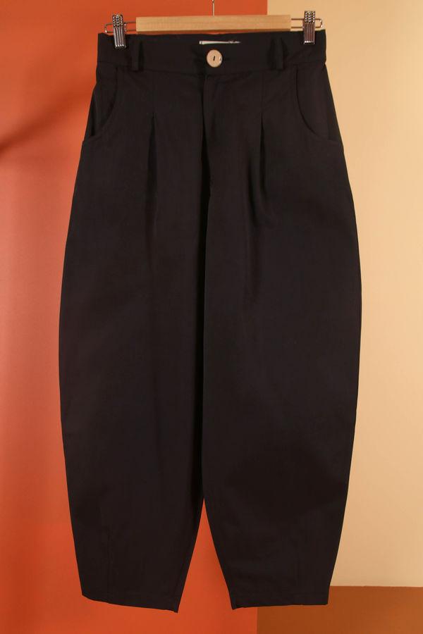 HE-QA - Kanvas Slouchy Pantolon Siyah