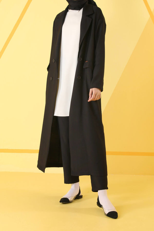 HE-QA - Sera Ceket Siyah