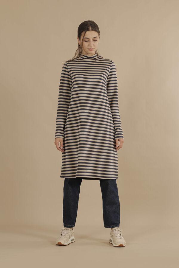 HE-QA - Line Tshirt Uzun Lacivert