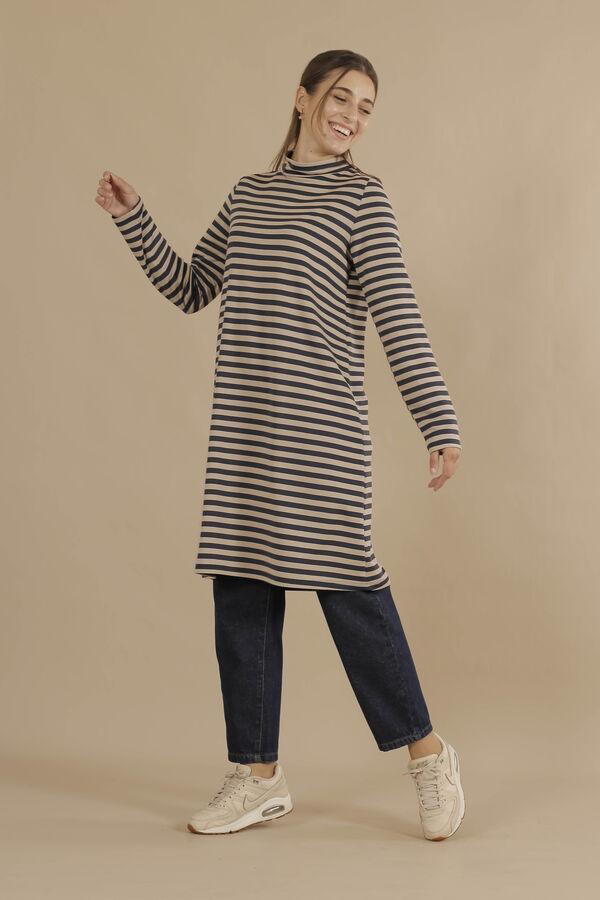 HE-QA - Line Tshirt Uzun Lacivert (1)