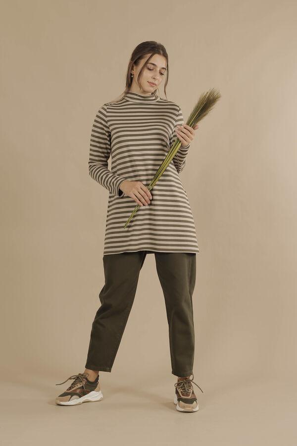 HE-QA - Line Tshirt Kısa Haki (1)