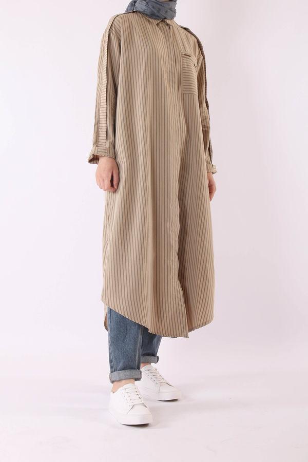 HE-QA - Modal Kalem Tunik Camel