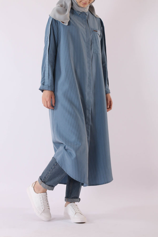 HE-QA - Modal Kalem Tunik Mavi