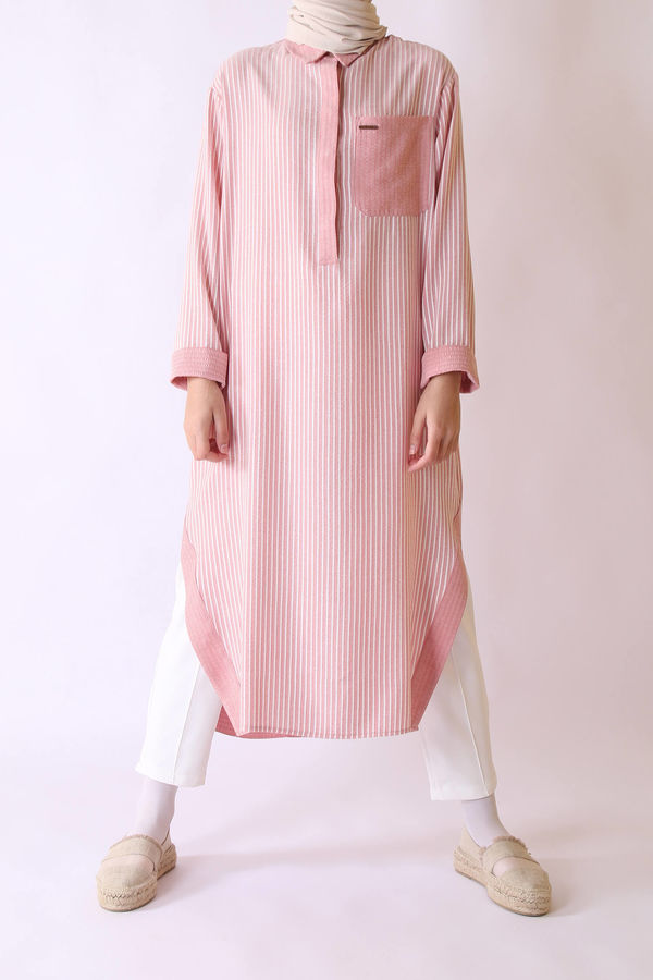 HE-QA - Natural Tunik Pembe