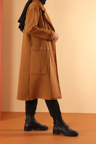 Şardonlu Ceket Taba - Thumbnail