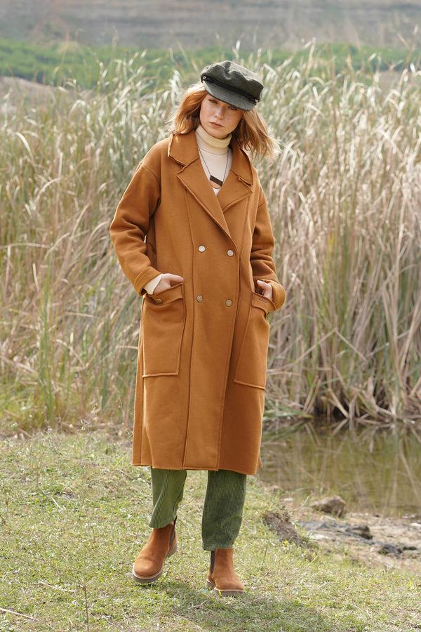 Şardonlu Ceket Taba