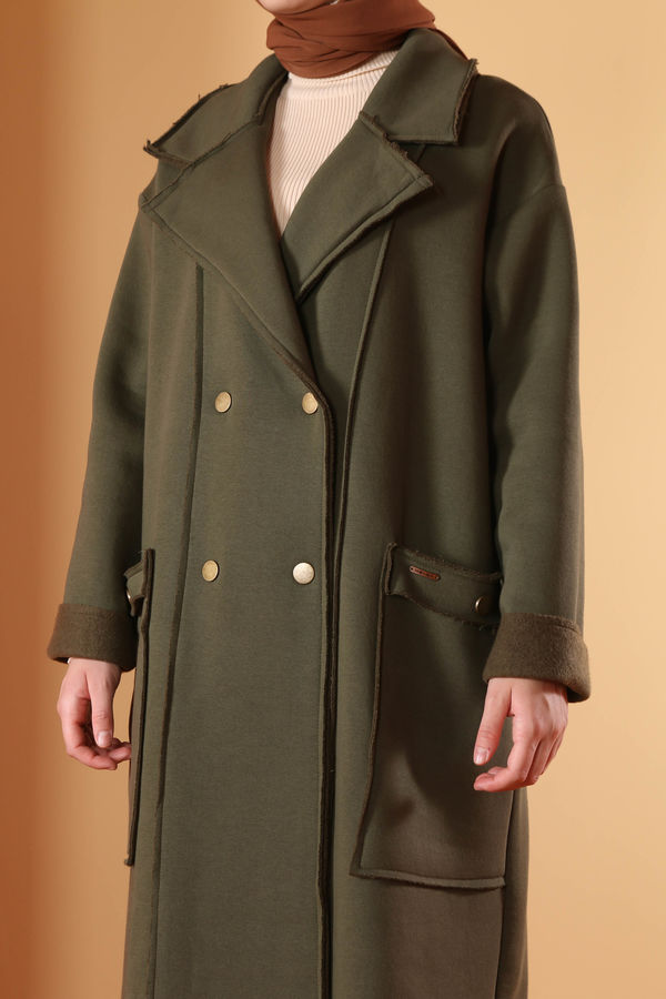 Şardonlu Ceket Haki