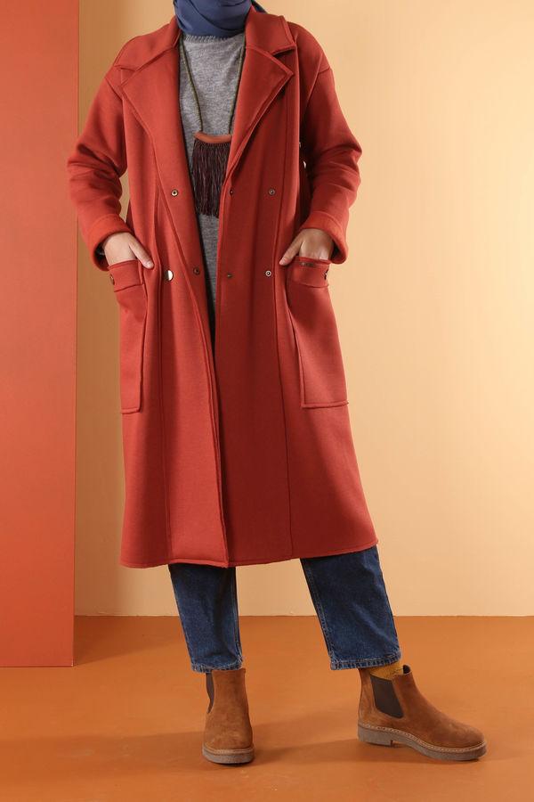 Şardonlu Ceket Kiremit