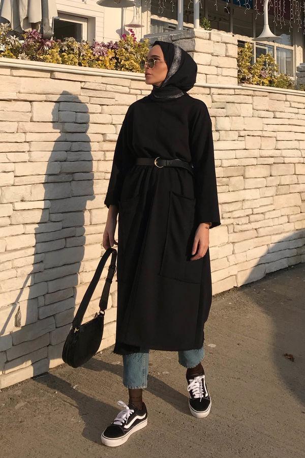 HE-QA - Uzun Sweat Siyah