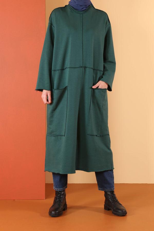 HE-QA - Uzun Sweat Yeşil